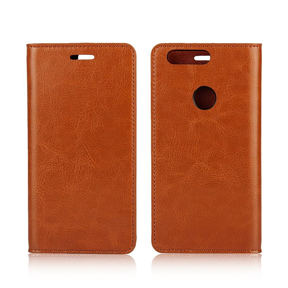 Mobiletui Ekte Lær Huawei Honor 8 brun