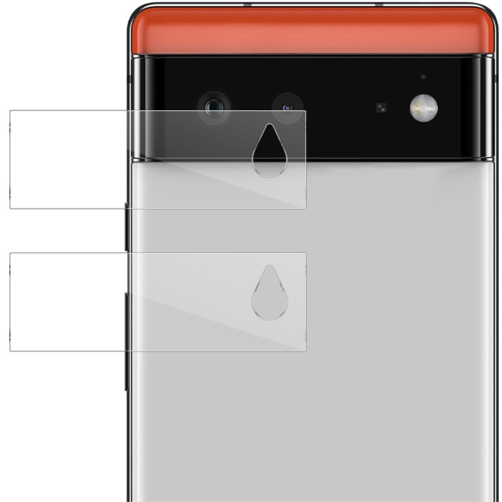 2-pack Herdet Glass Linsebeskyttelse Google Pixel 6