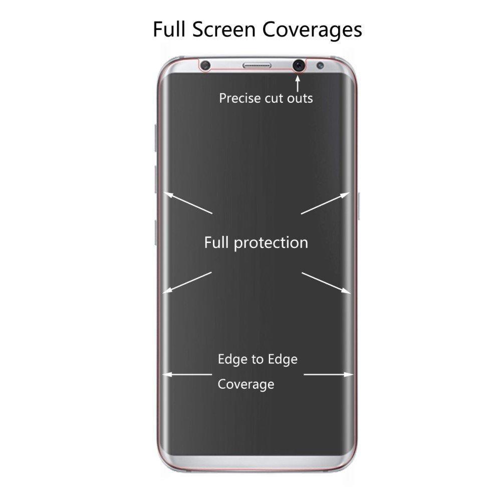 Heldekkende Curved Skjermbeskytter Samsung Galaxy S8 Plus