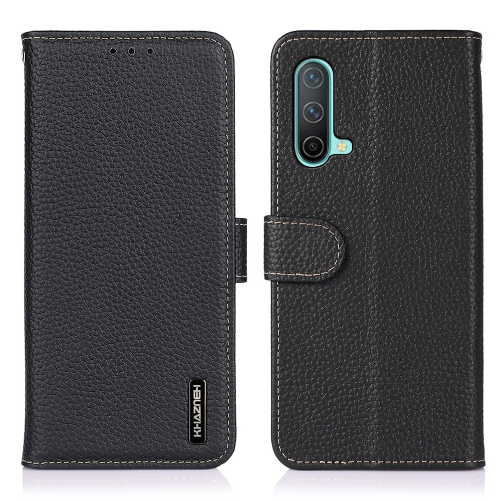 Real Leather Wallet OnePlus Nord CE 5G Black
