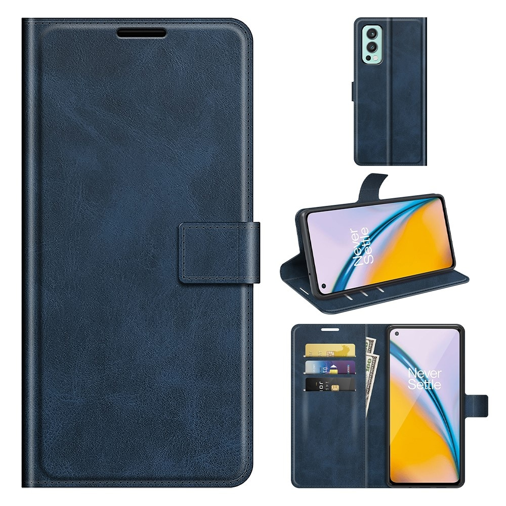 Leather Wallet OnePlus Nord 2 5G Blue