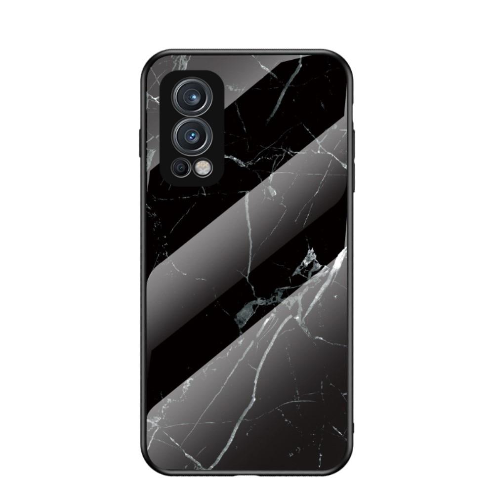 Herdet Glass Deksel OnePlus Nord 2 5G svart marmor
