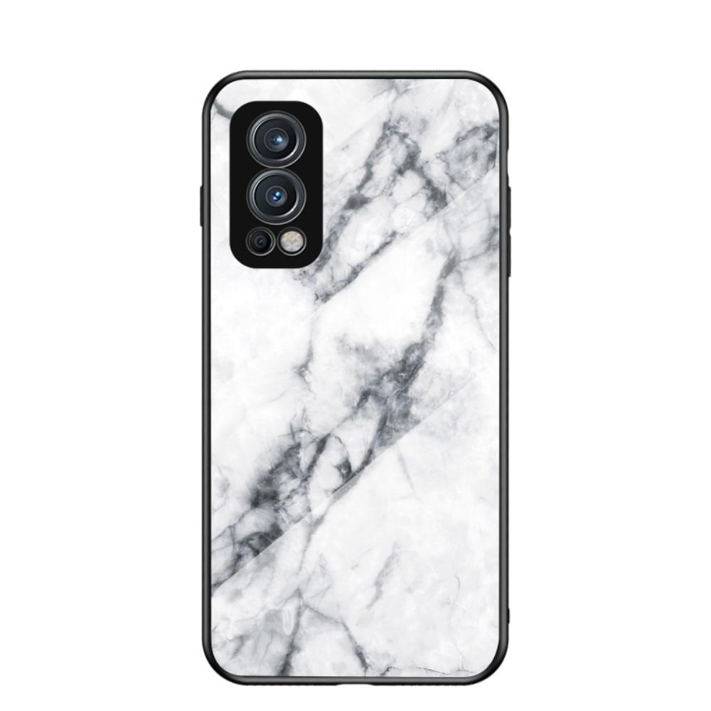 Herdet Glass Deksel OnePlus Nord 2 5G hvit marmor