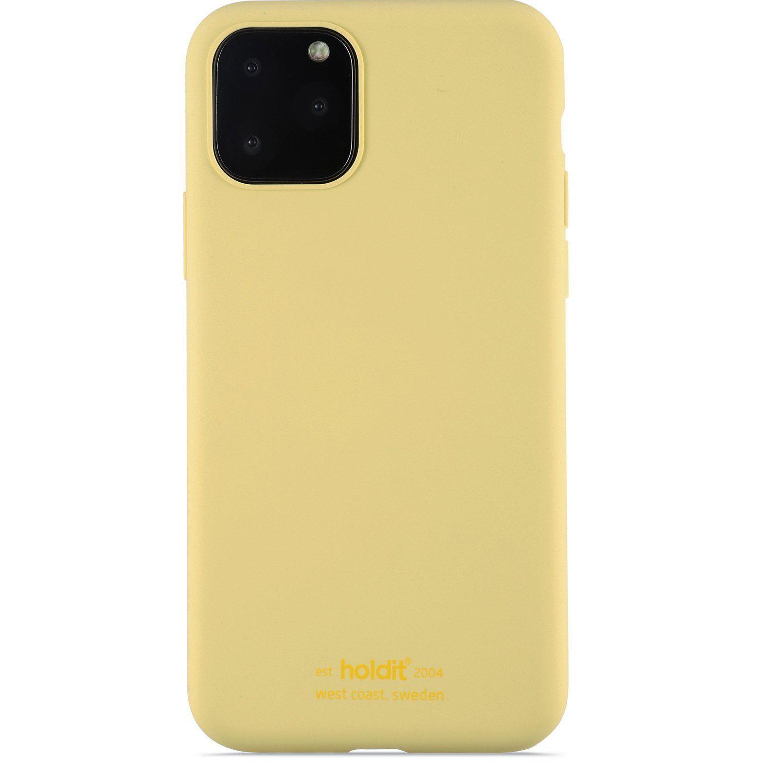 Deksel Silikon iPhone 11 Pro/XS/X Gul