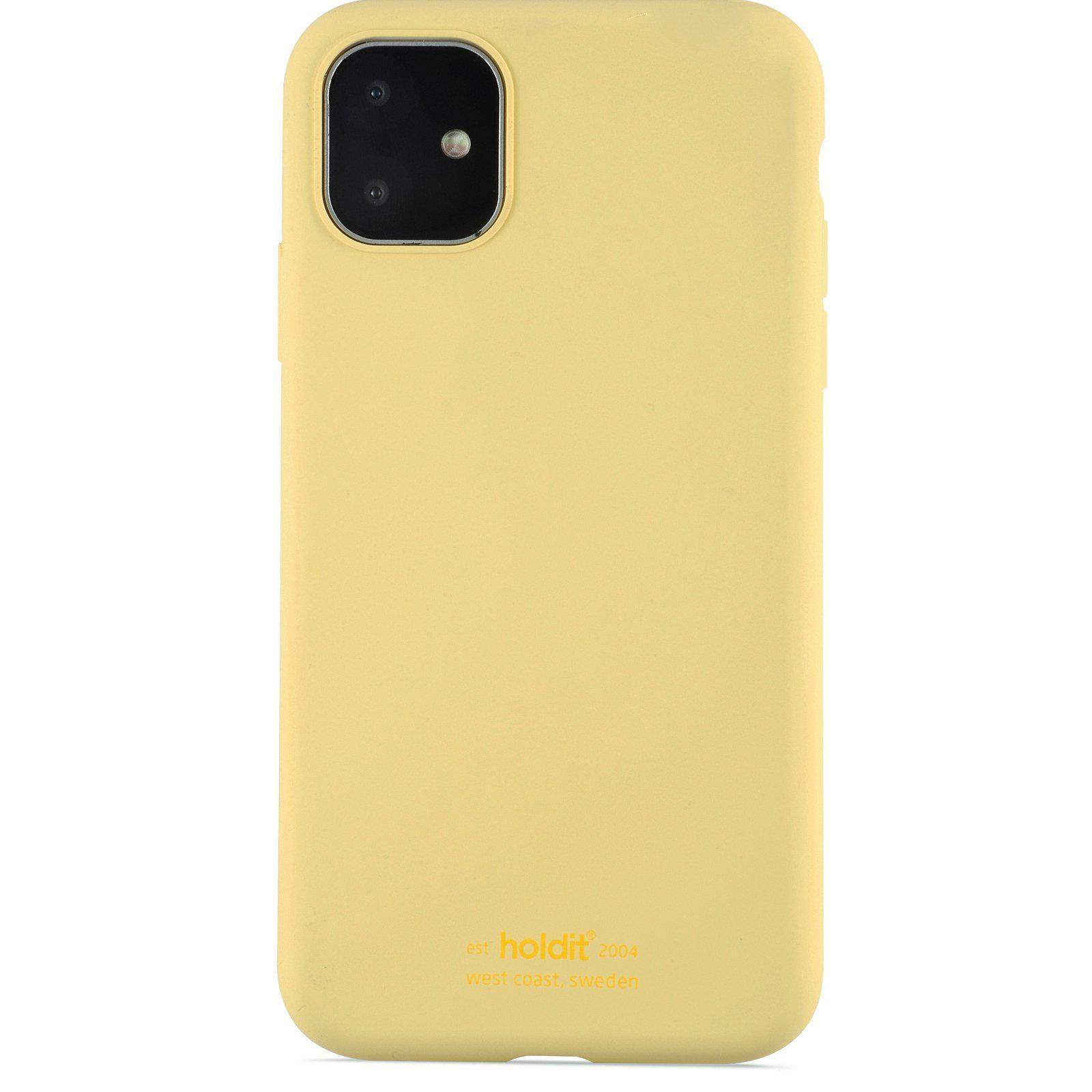 Deksel Silikon iPhone 11/XR Gul
