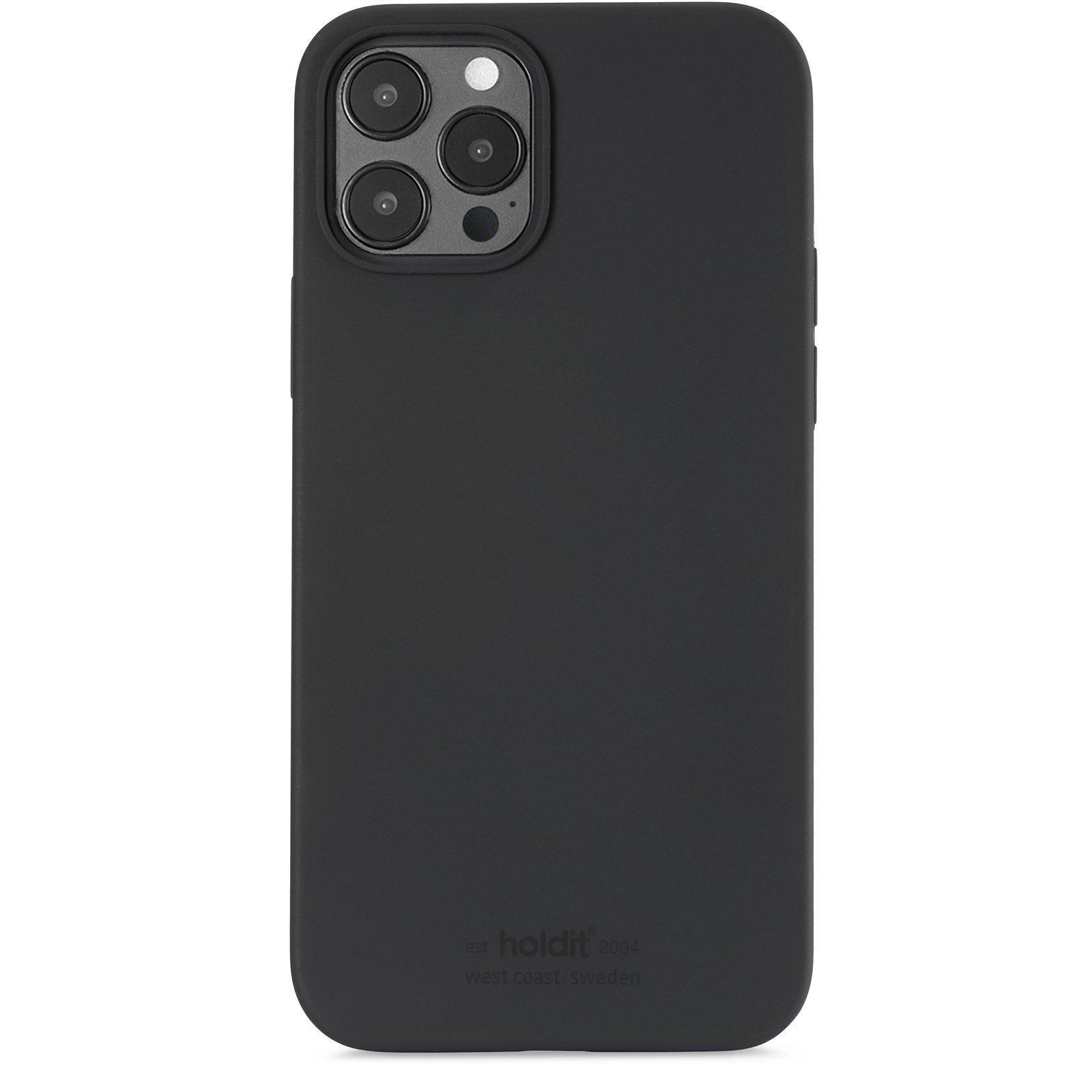 Deksel Silikon iPhone 12/12 Pro Svart