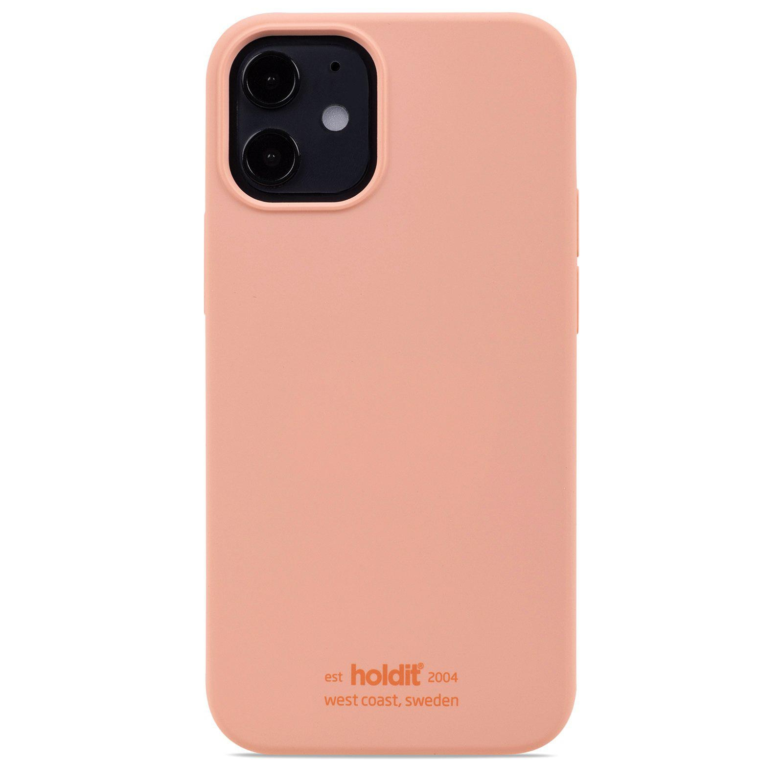 Deksel Silikon iPhone 12 Mini Pink Peach