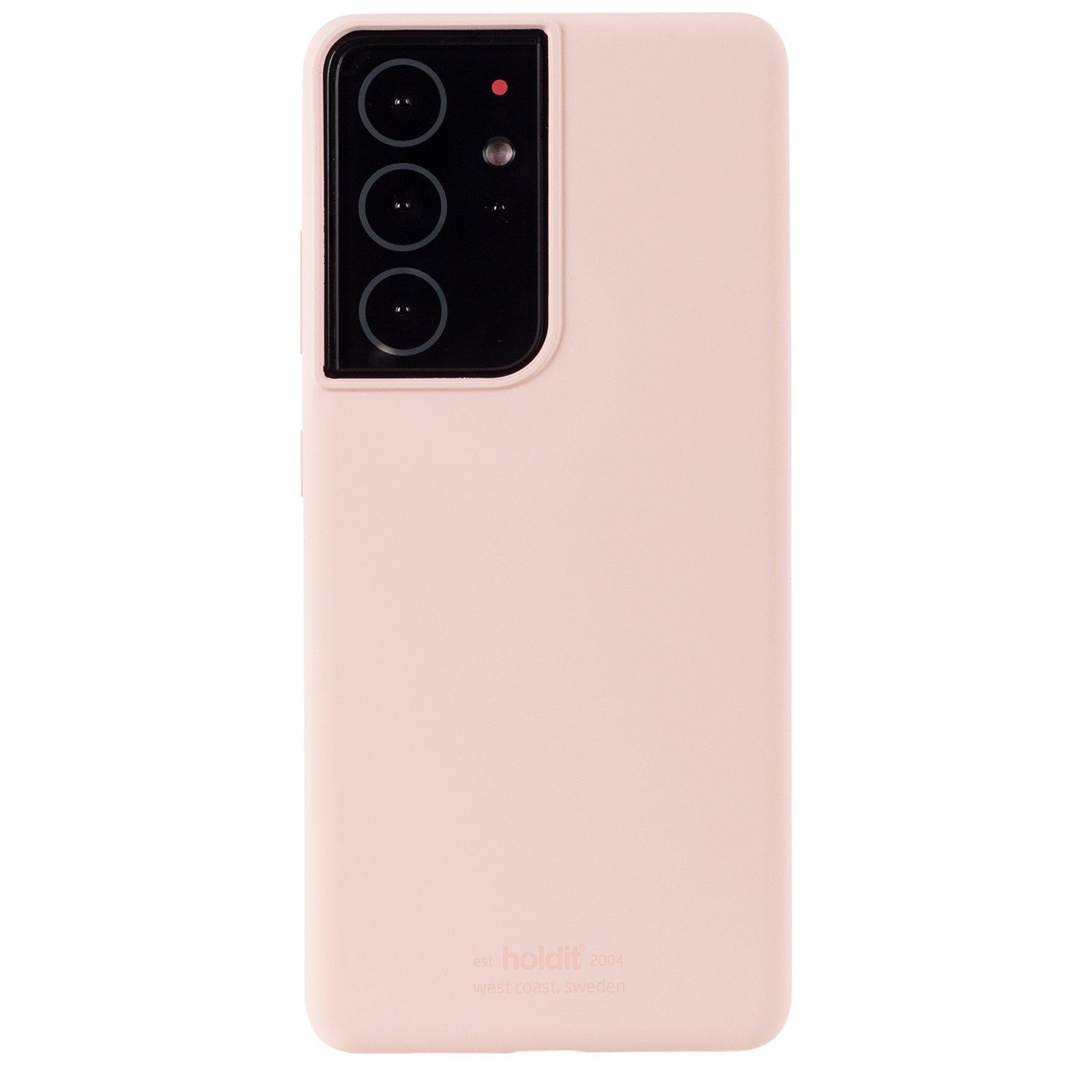 Deksel Silikon Galaxy S21 Ultra Blush Pink
