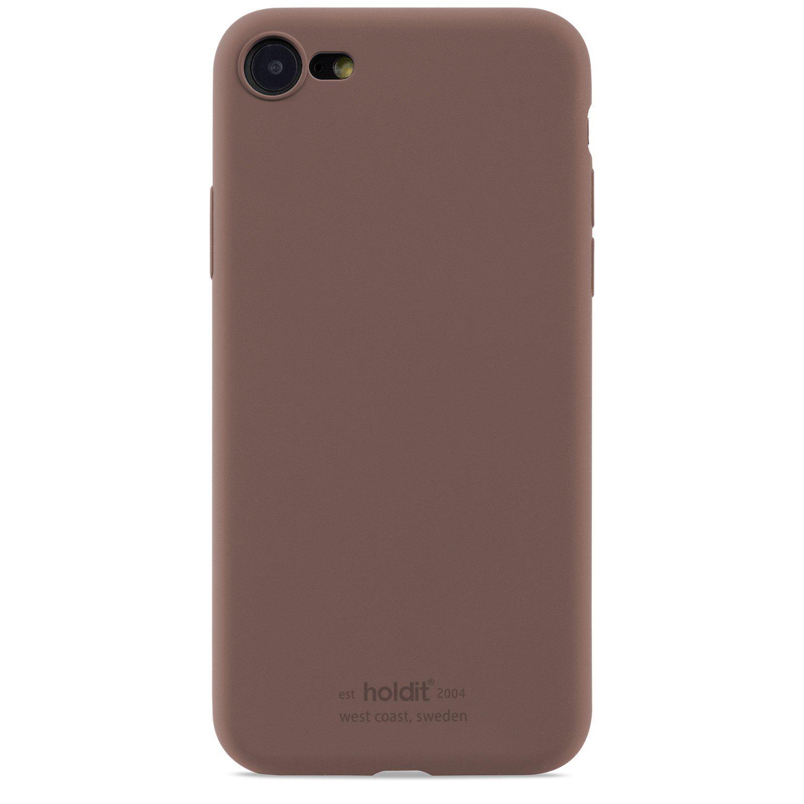 Deksel Silikon iPhone 7/8/SE 2020 Dark Brown