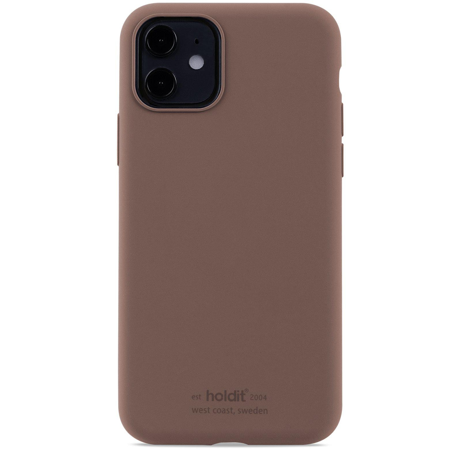 Deksel Silikon iPhone 11/XR Dark Brown