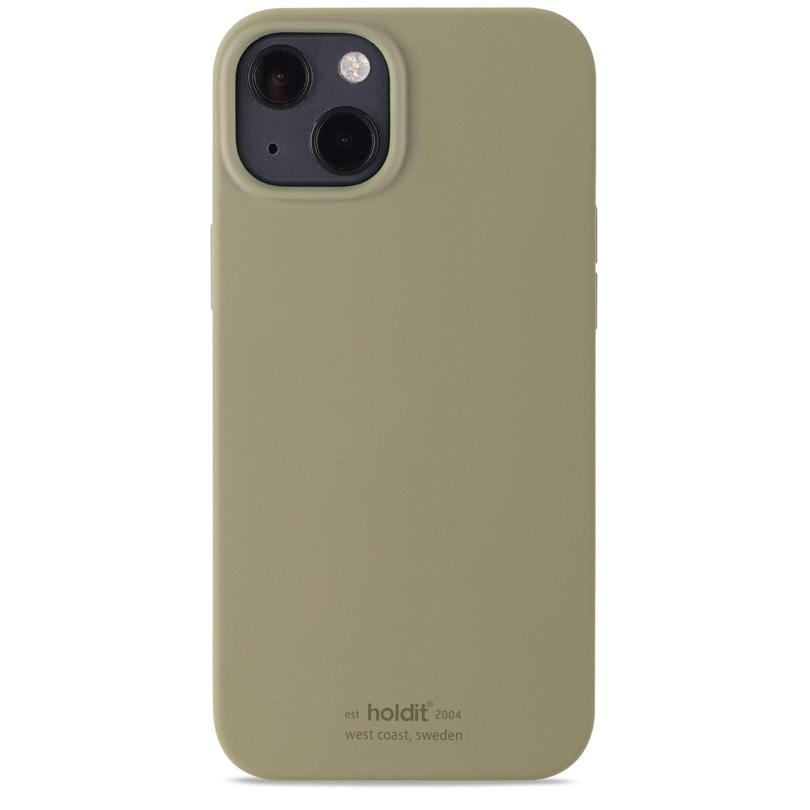 Deksel Silikon iPhone 13 Khaki Green