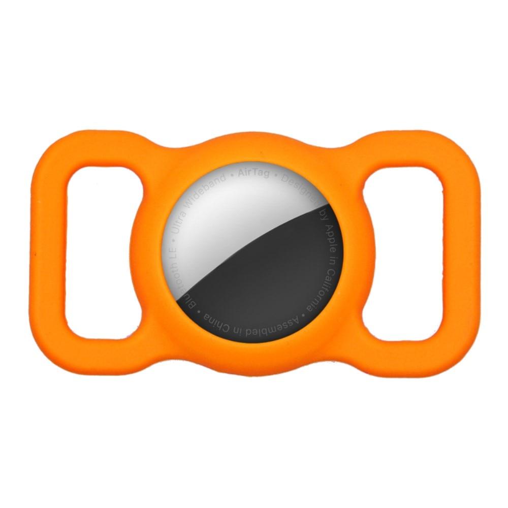 Apple AirTag deksel for hundehalsbånd oransje
