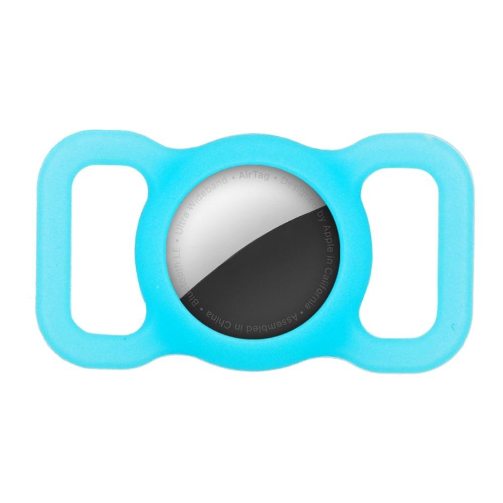 Apple AirTag deksel for hundehalsbånd blå