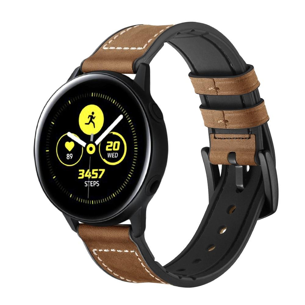 Premium Lærarmbånd Galaxy Watch 4 40/44 mm brun