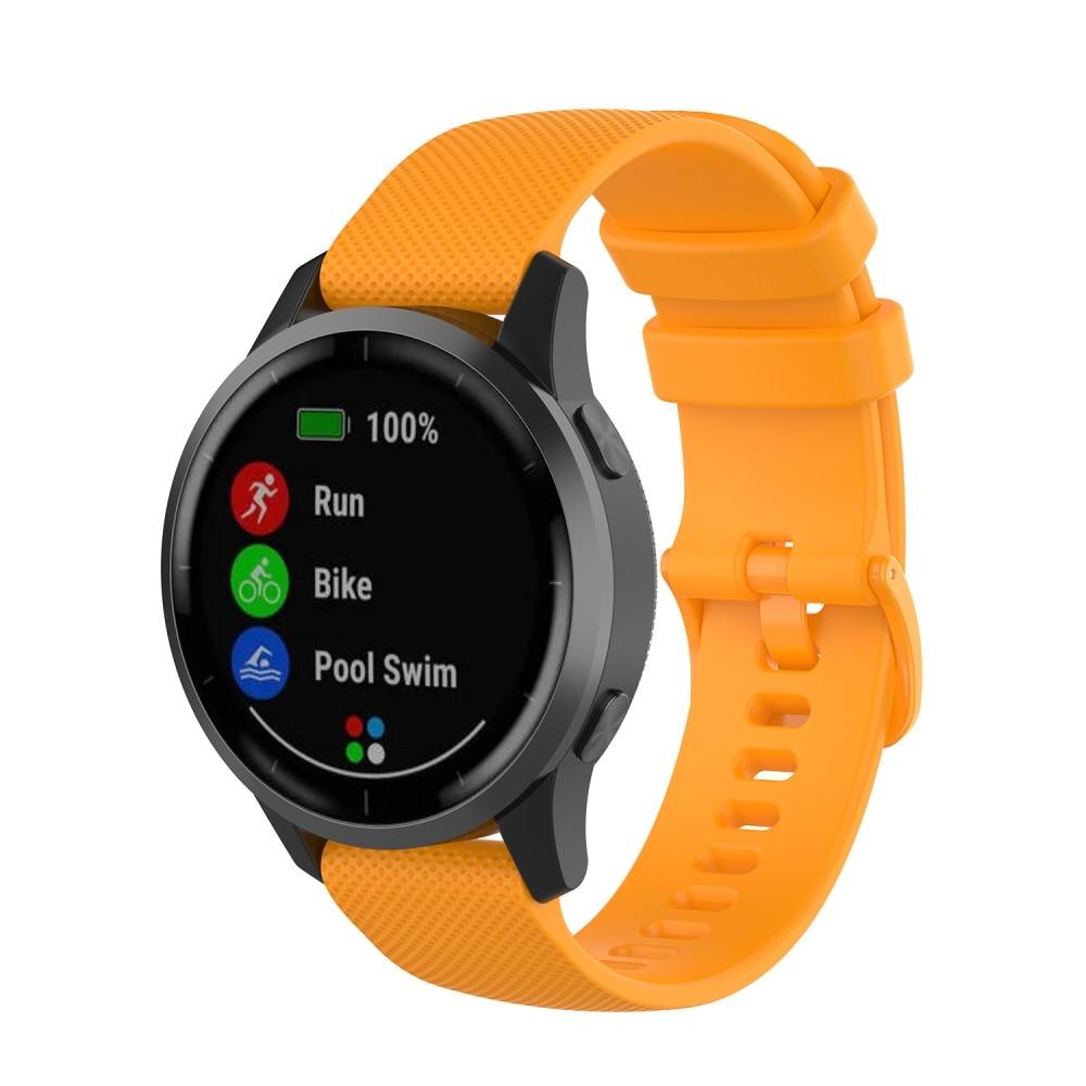 Silikonarmbånd Garmin Vivoactive 4/Venu 2 oransje
