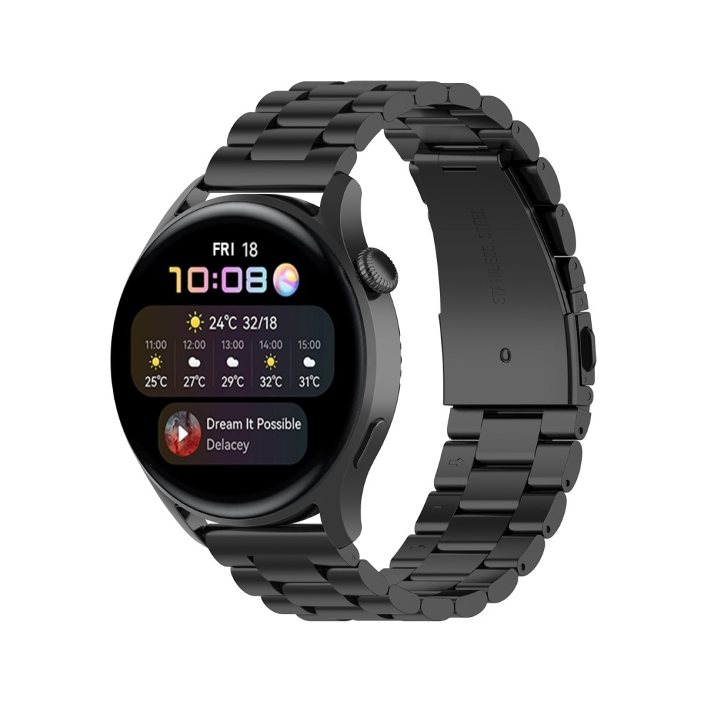 Metallarmbånd Huawei Watch 3/3 Pro svart
