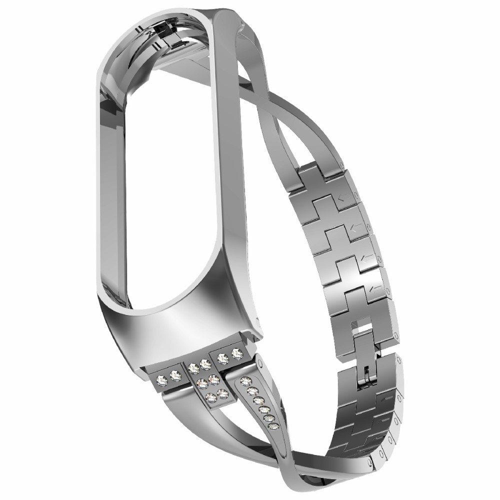 Crystal Bracelet Xiaomi Mi Band 5/6 Silver