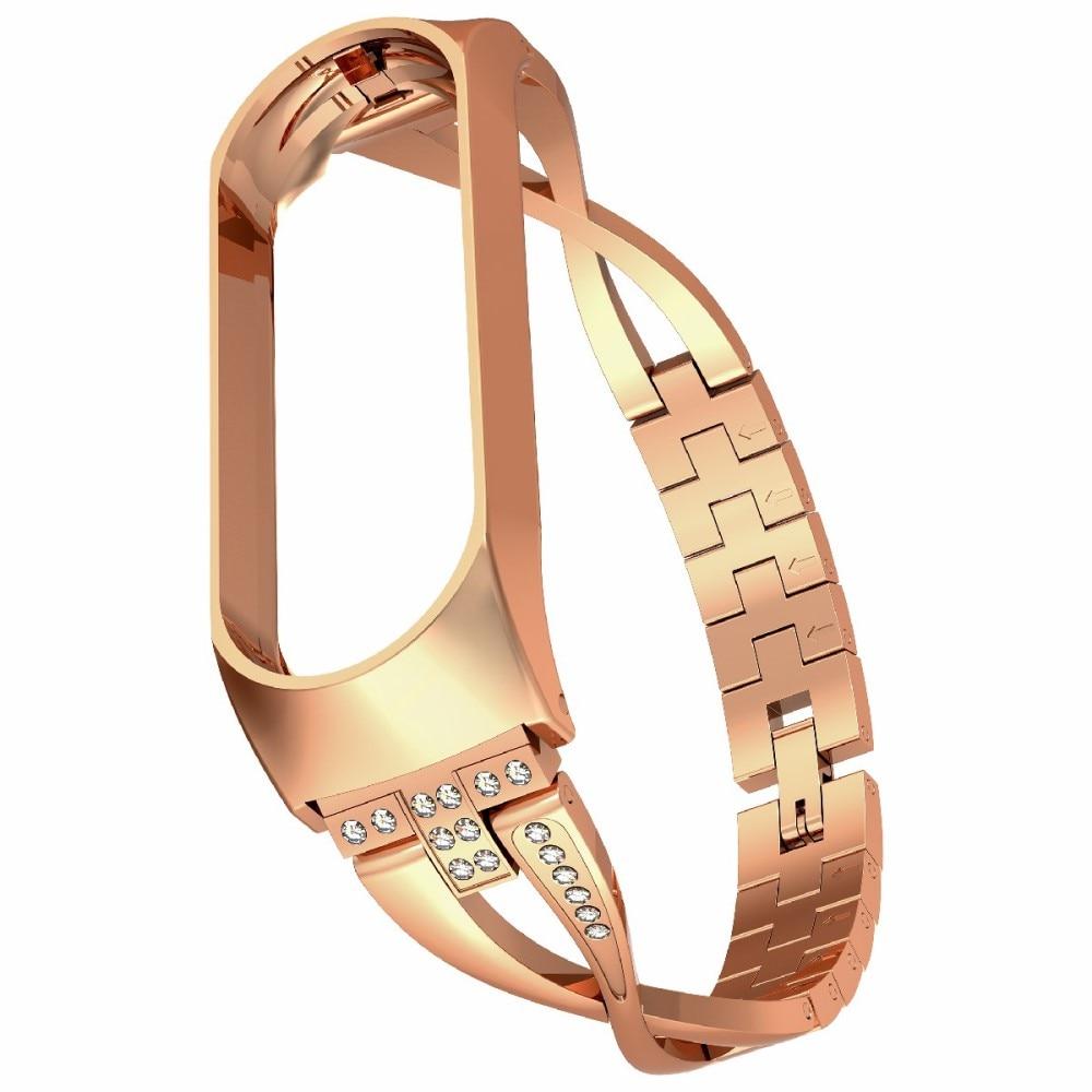 Crystal Bracelet Xiaomi Mi Band 5/6 Gold