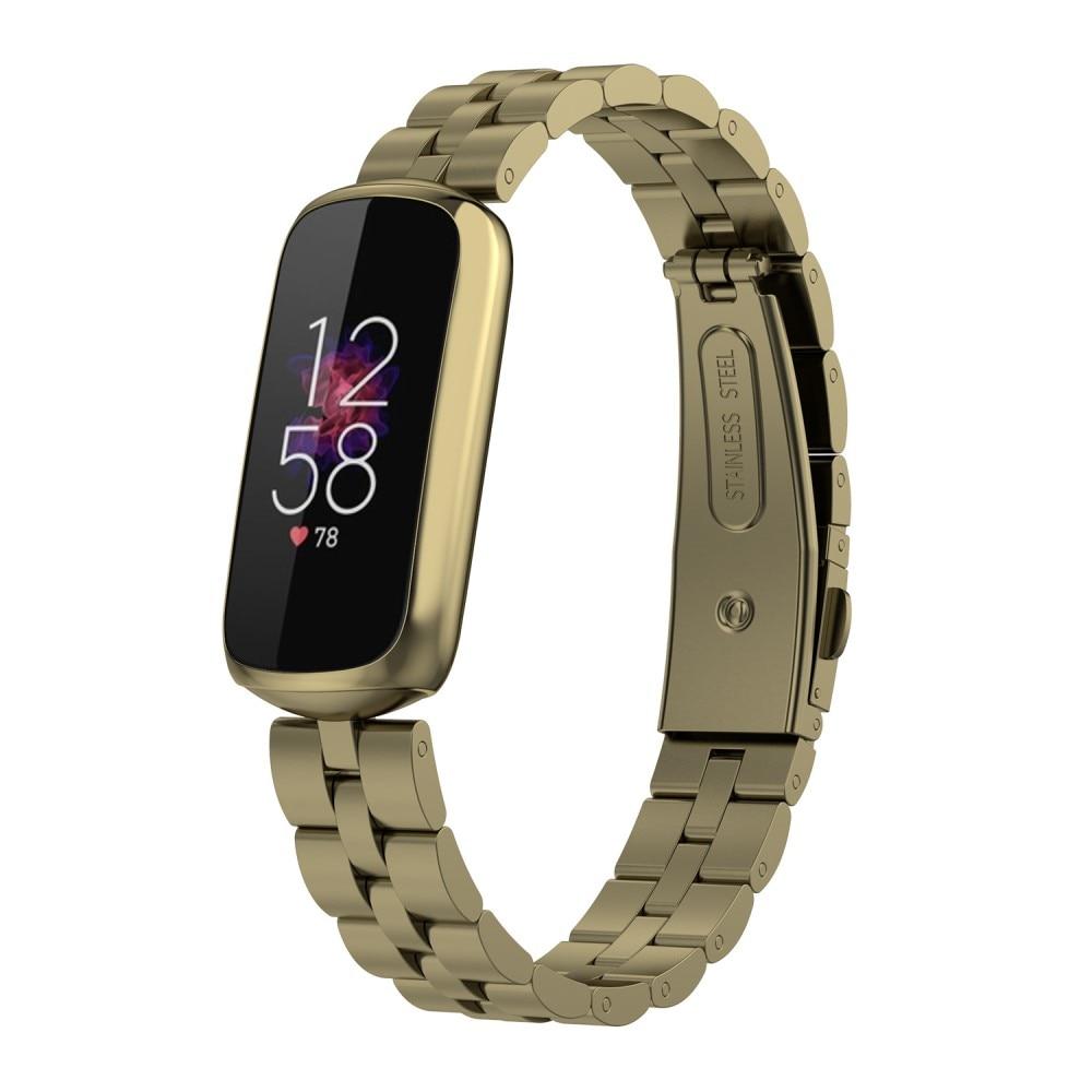 Metallarmbånd Fitbit Luxe gull