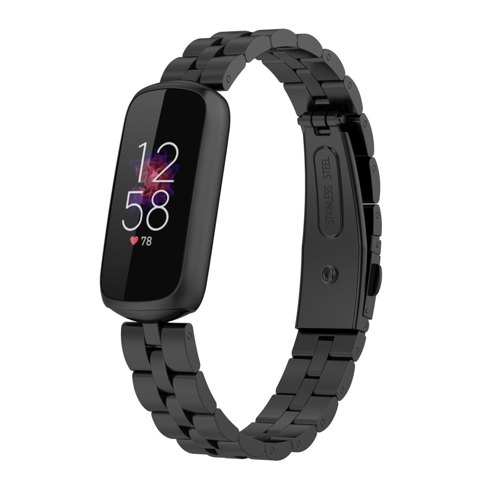 Metallarmbånd Fitbit Luxe svart