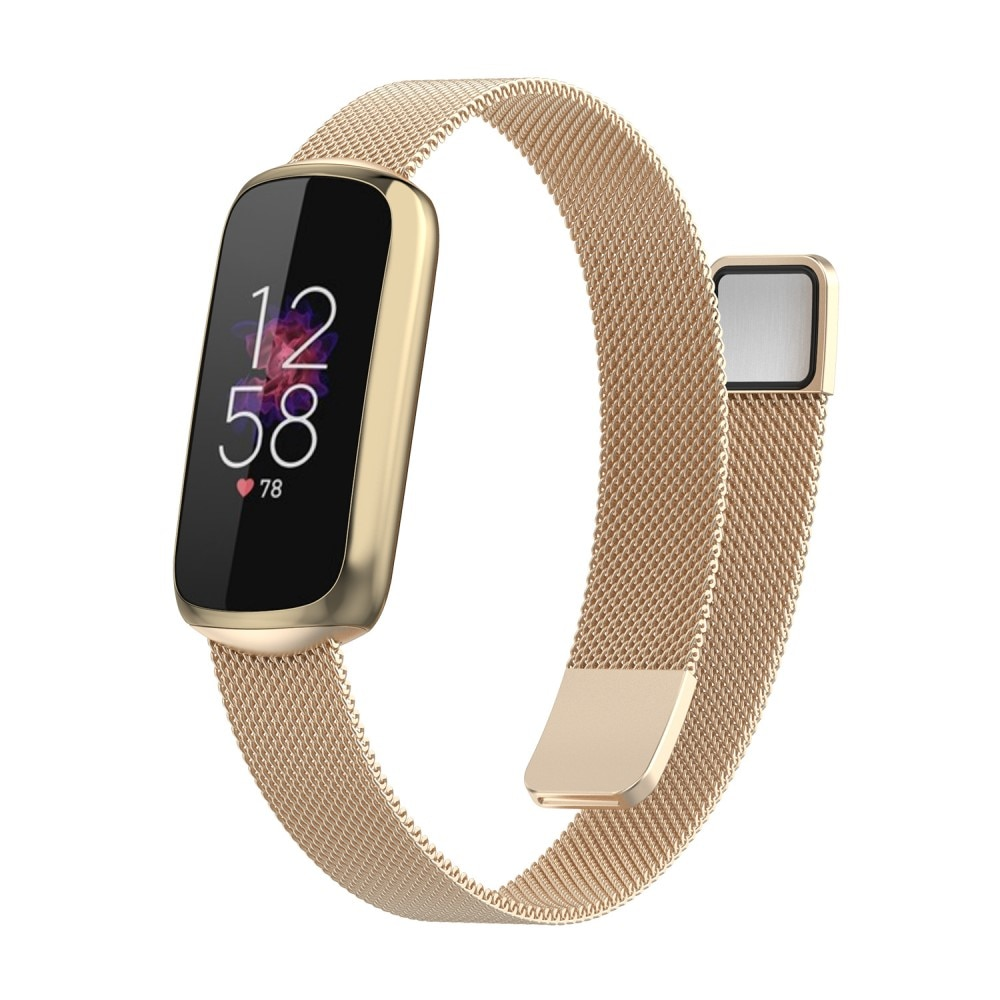 Armbånd Milanese Fitbit Luxe gull