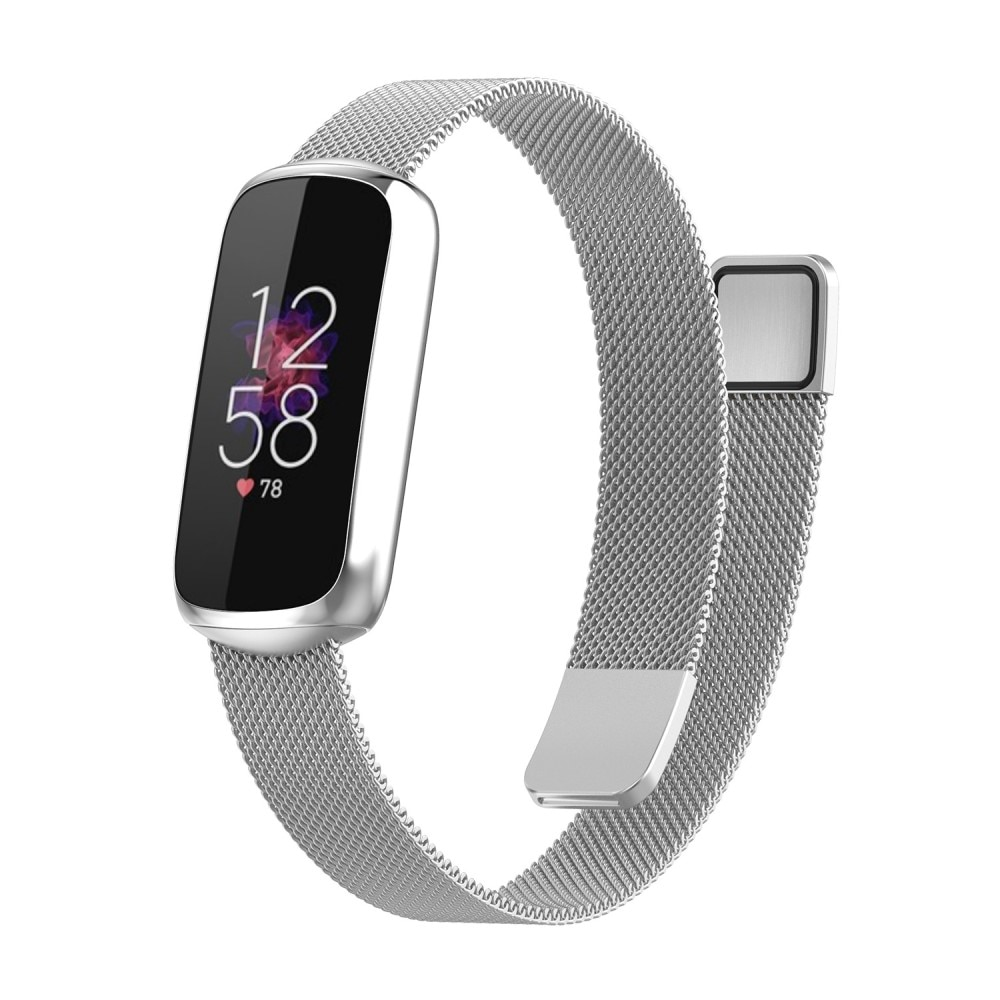 Armbånd Milanese Fitbit Luxe sølv