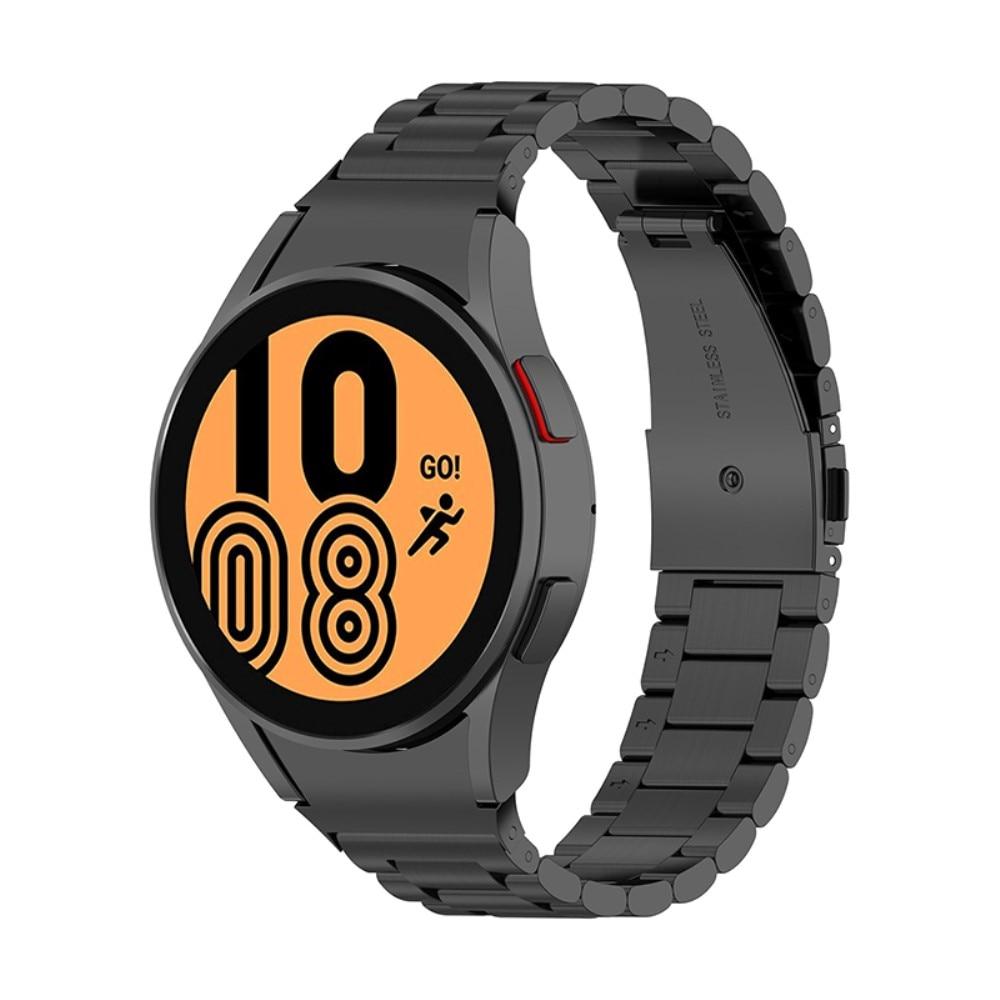 Full Fit Metallarmbånd Galaxy Watch 4 40/42/44/46 svart
