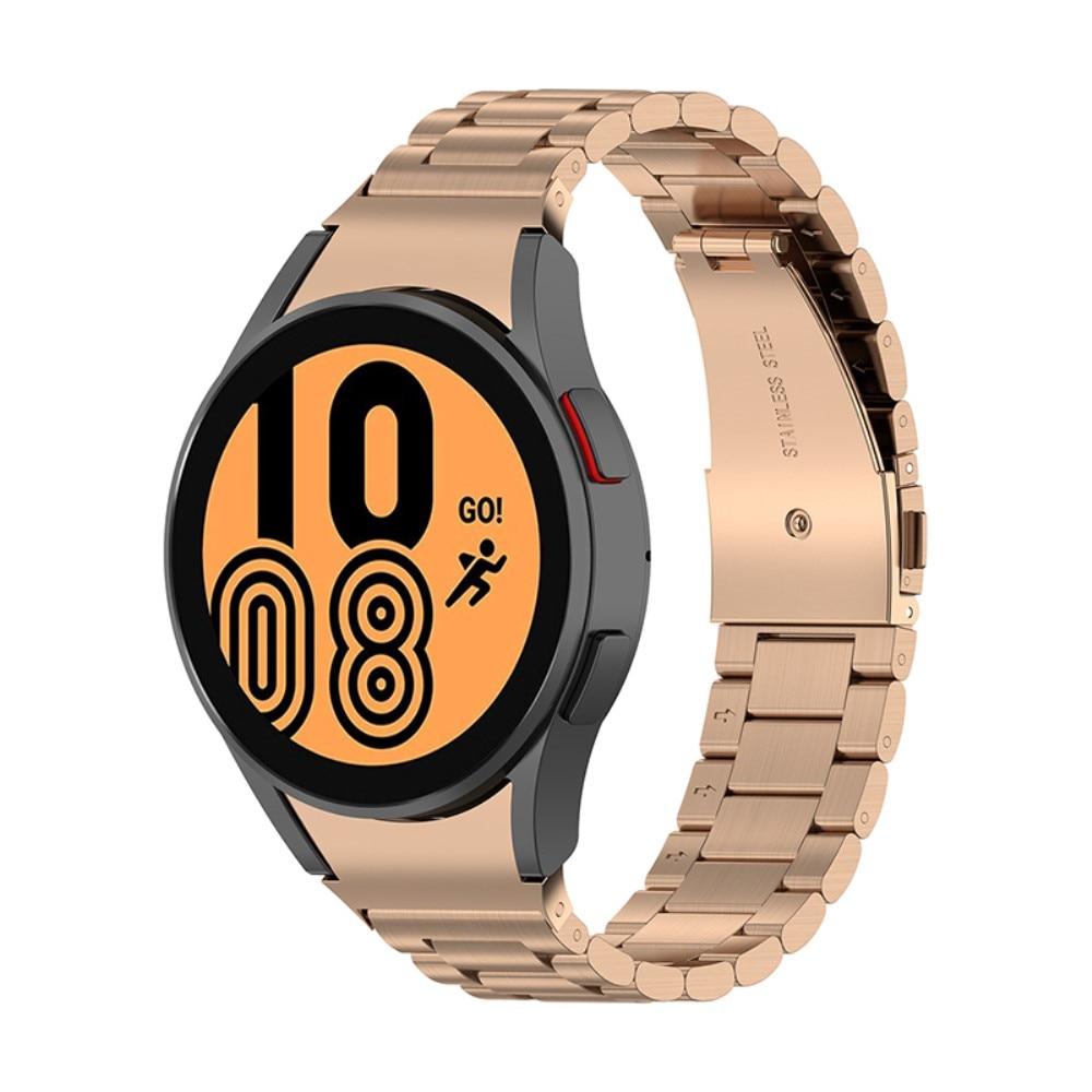 Full Fit Metallarmbånd Galaxy Watch 4 40/42/44/46 rosegull