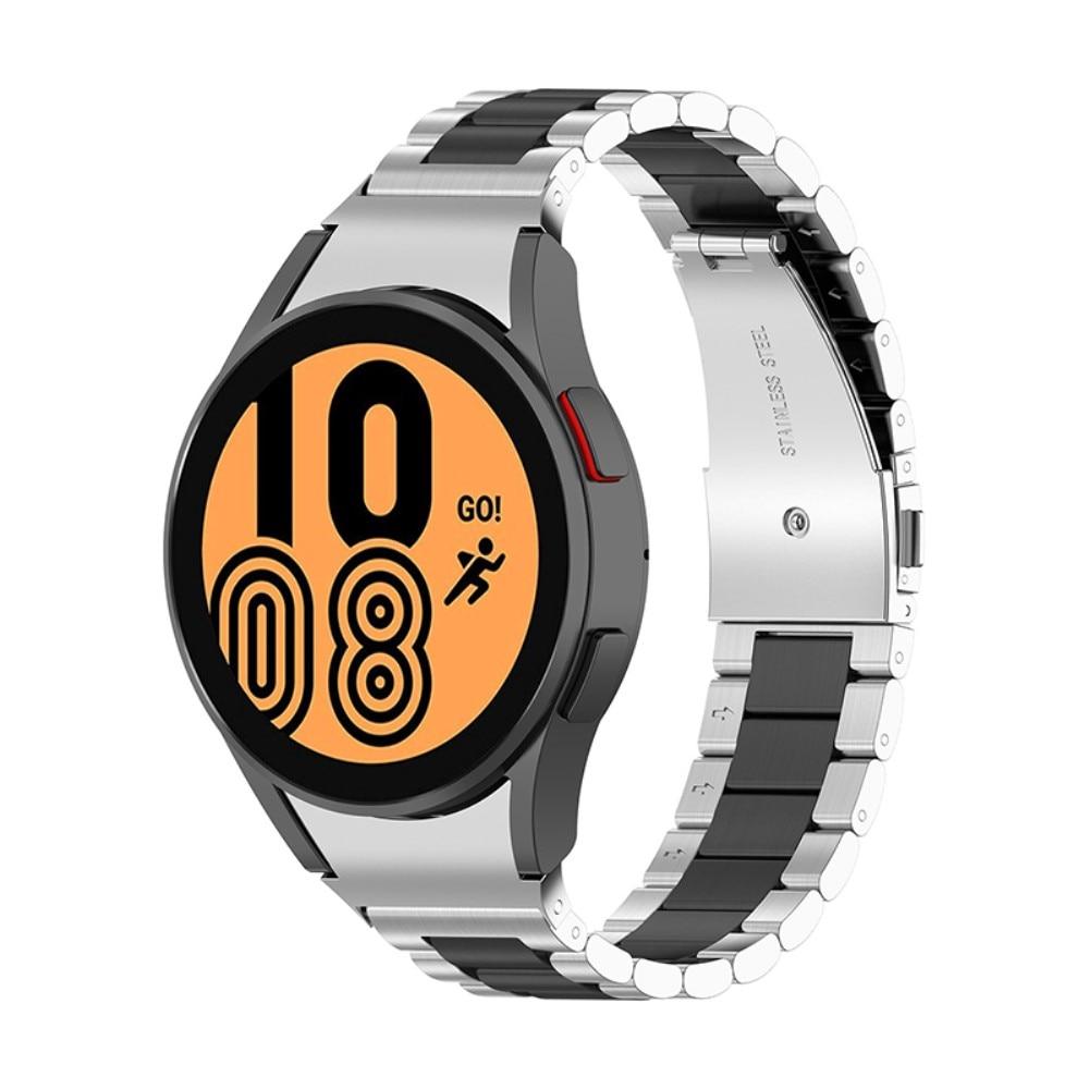 Full Fit Metallarmbånd Galaxy Watch 4 40/42/44/46 svart/sølv