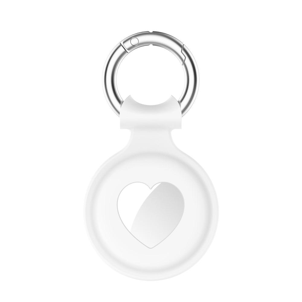 Silikondeksel Apple AirTag hjerte hvit