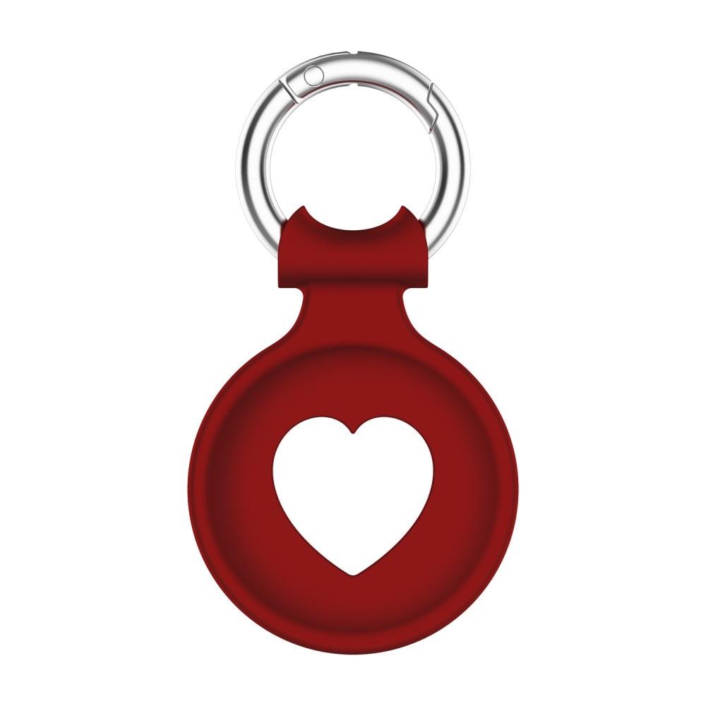Silikondeksel Apple AirTag hjerte rød