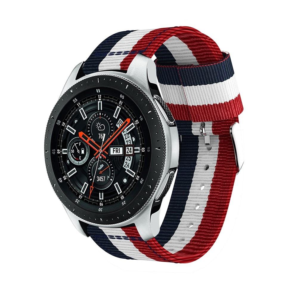 Nylonarmbånd Samsung Galaxy Watch 46mm/45mm blå/hvit/rød