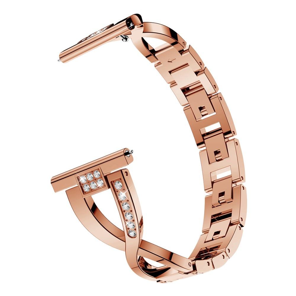 Crystal Bracelet Galaxy Watch 4 40/42/44/46 mm Rose Gold