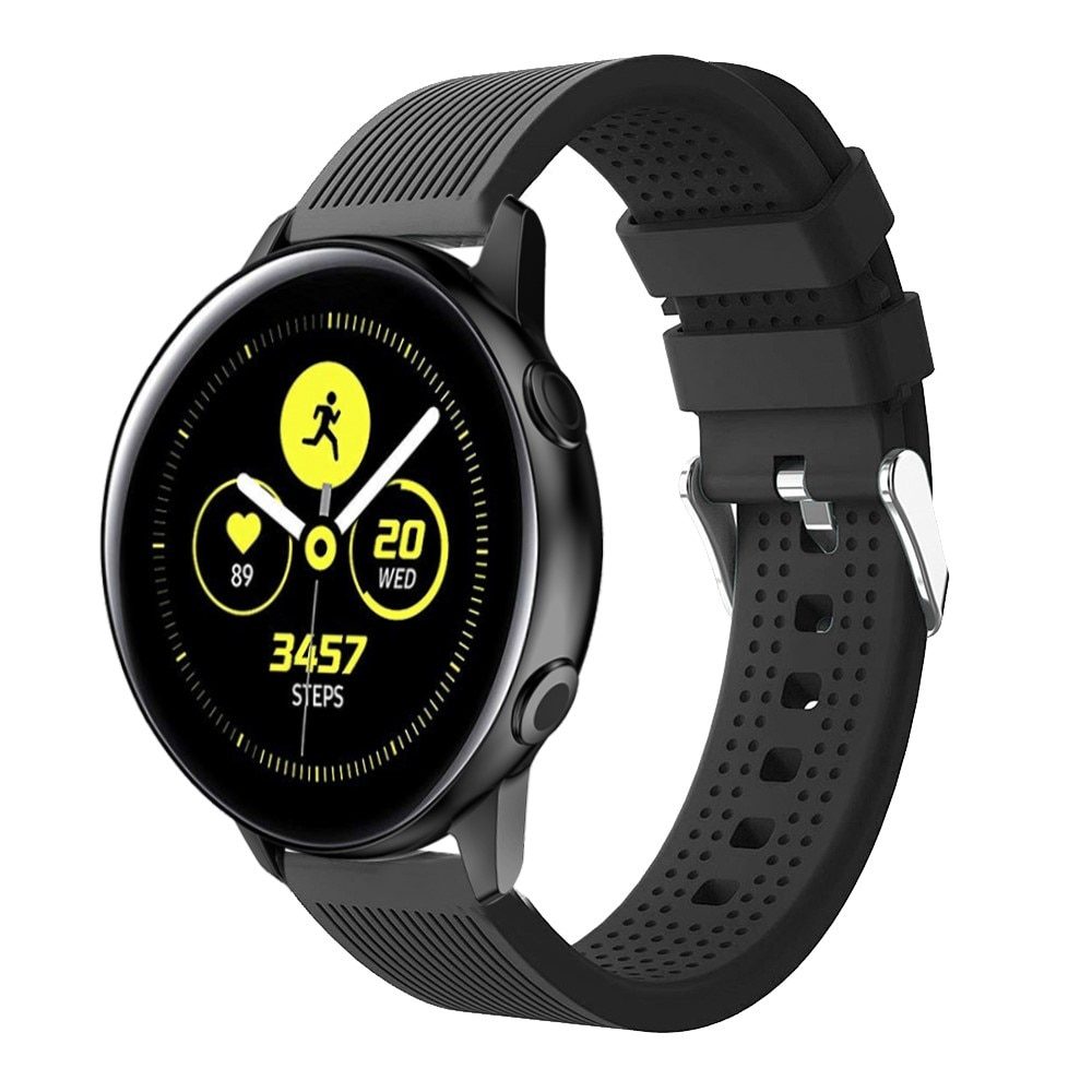 Silikonarmbånd Samsung Galaxy Watch 4 Classic 42/46 mm svart