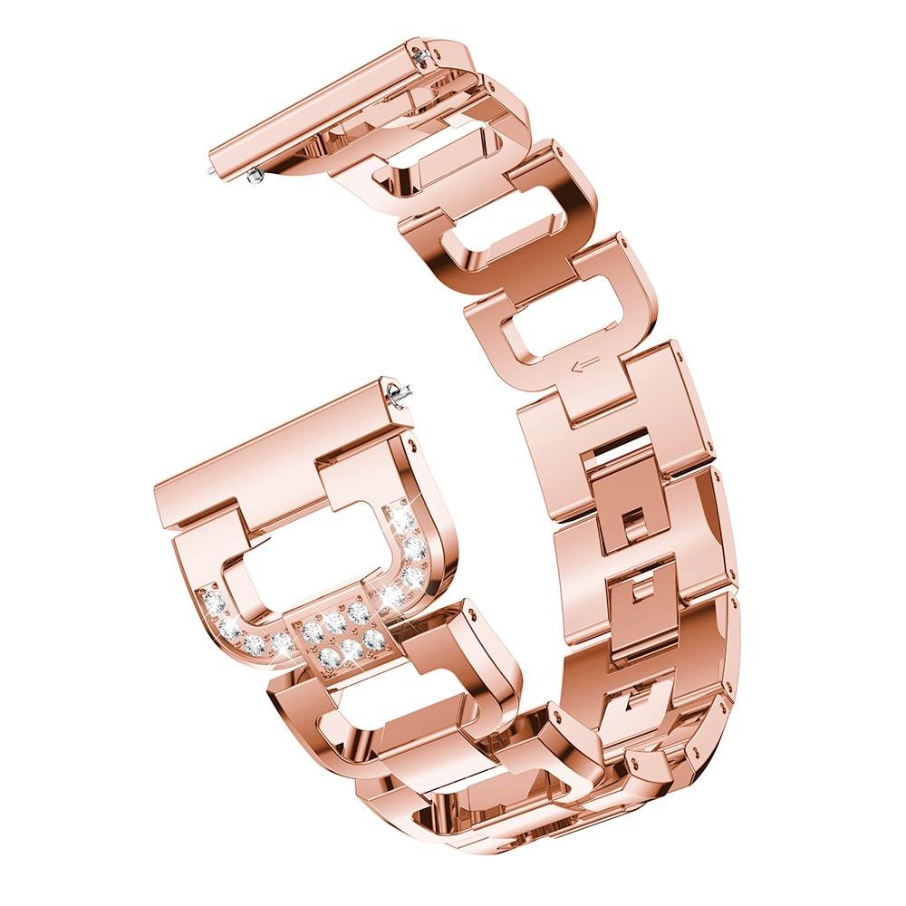 Rhinestone Bracelet Galaxy Watch 4 40/42/44/46 mm Rose Gold