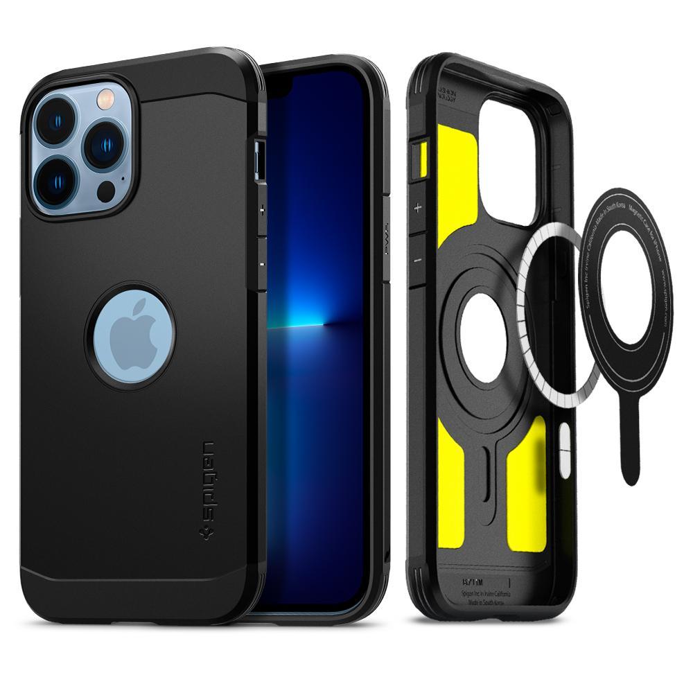 iPhone 13 Pro Max Case Tough Armor Mag Black
