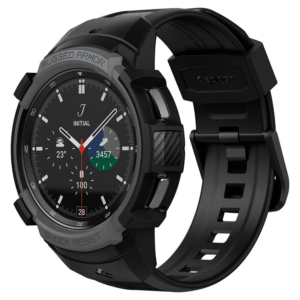 Galaxy Watch 4 Classic 46mm Case Rugged Armor Pro Black