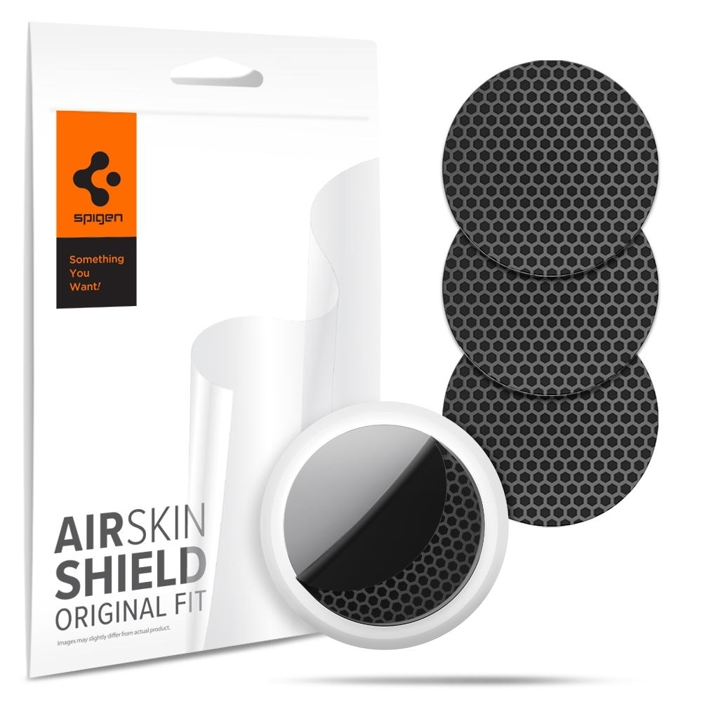 Apple Airtag Airskin Hydrogel film Carbon Black (4-pack)