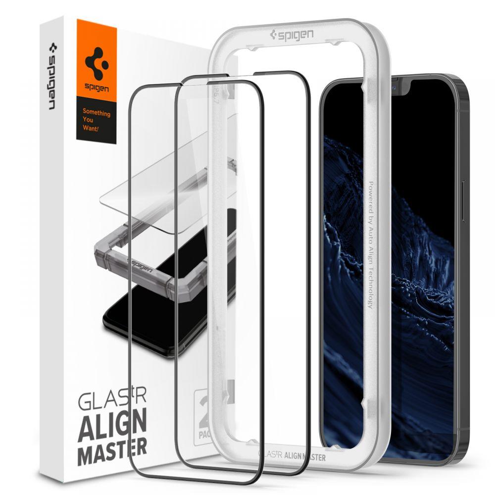 iPhone 13 Pro Max AlignMaster GLAS.tR Black (2-pack)