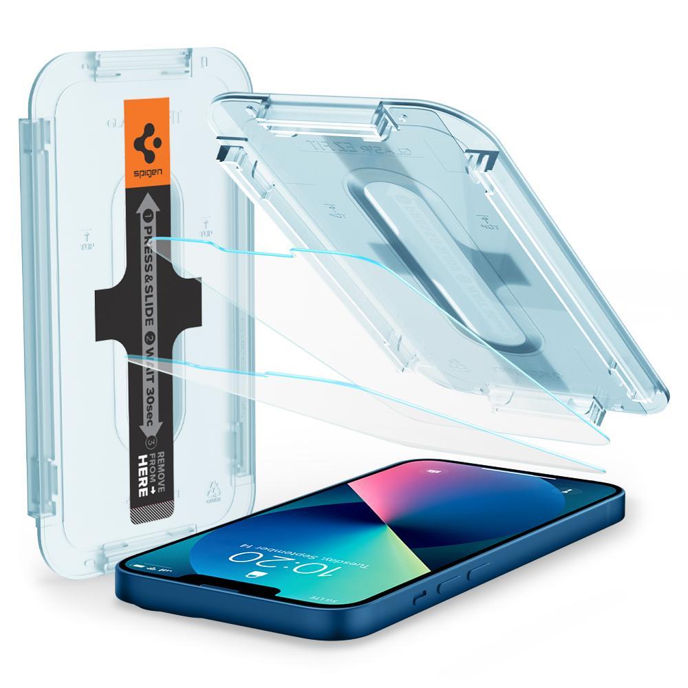 iPhone 13 Mini Screen Protector GLAS.tR EZ Fit (2-pack)