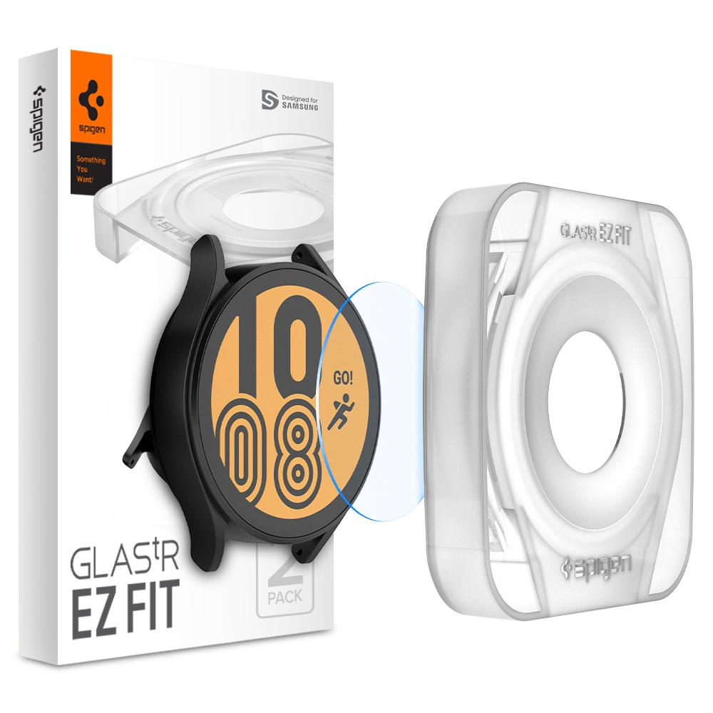 Galaxy Watch 4 44mm Screen Protector EZ Fit GLAS.tR (2-pack)