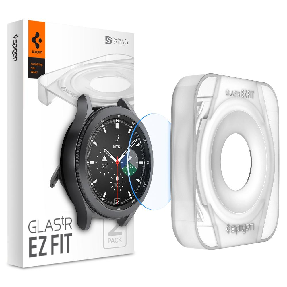 Galaxy Watch 4 Classic 46mm Screen Protector EZ Fit GLAS.tR (2-pack)