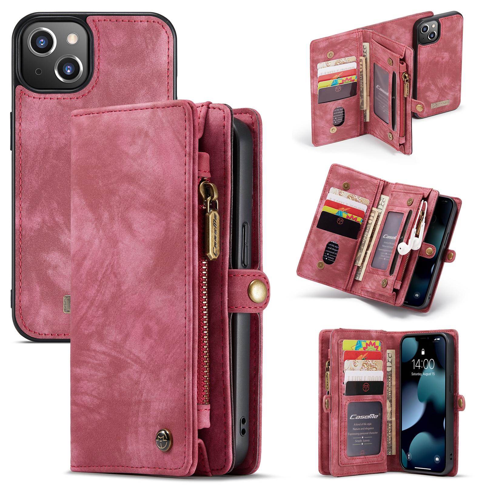 Multi-slot Lommeboksetui iPhone 13 Mini rød