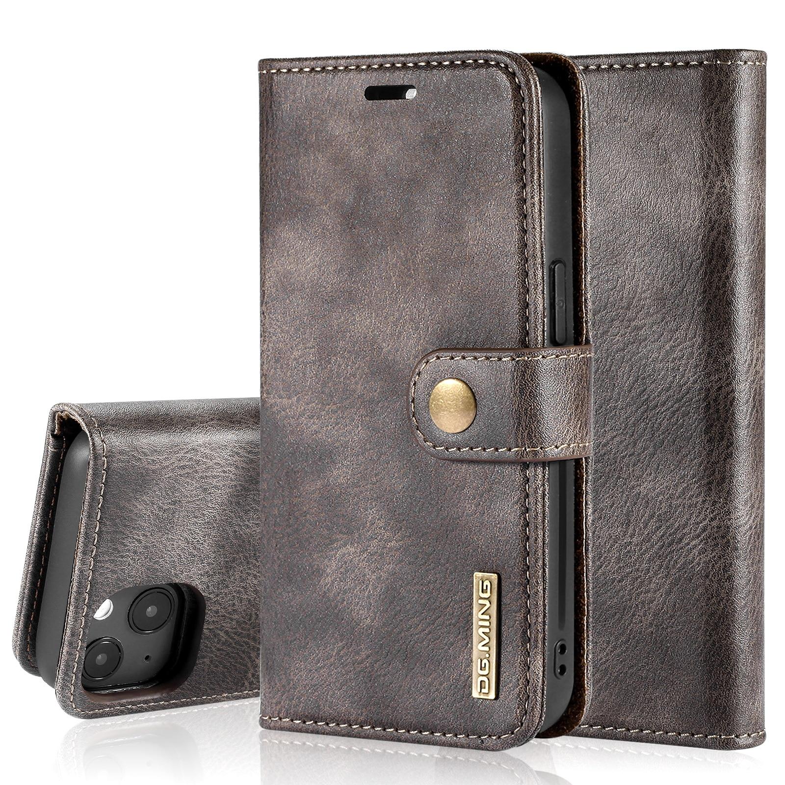 Magnet Wallet iPhone 13 Mini Brown