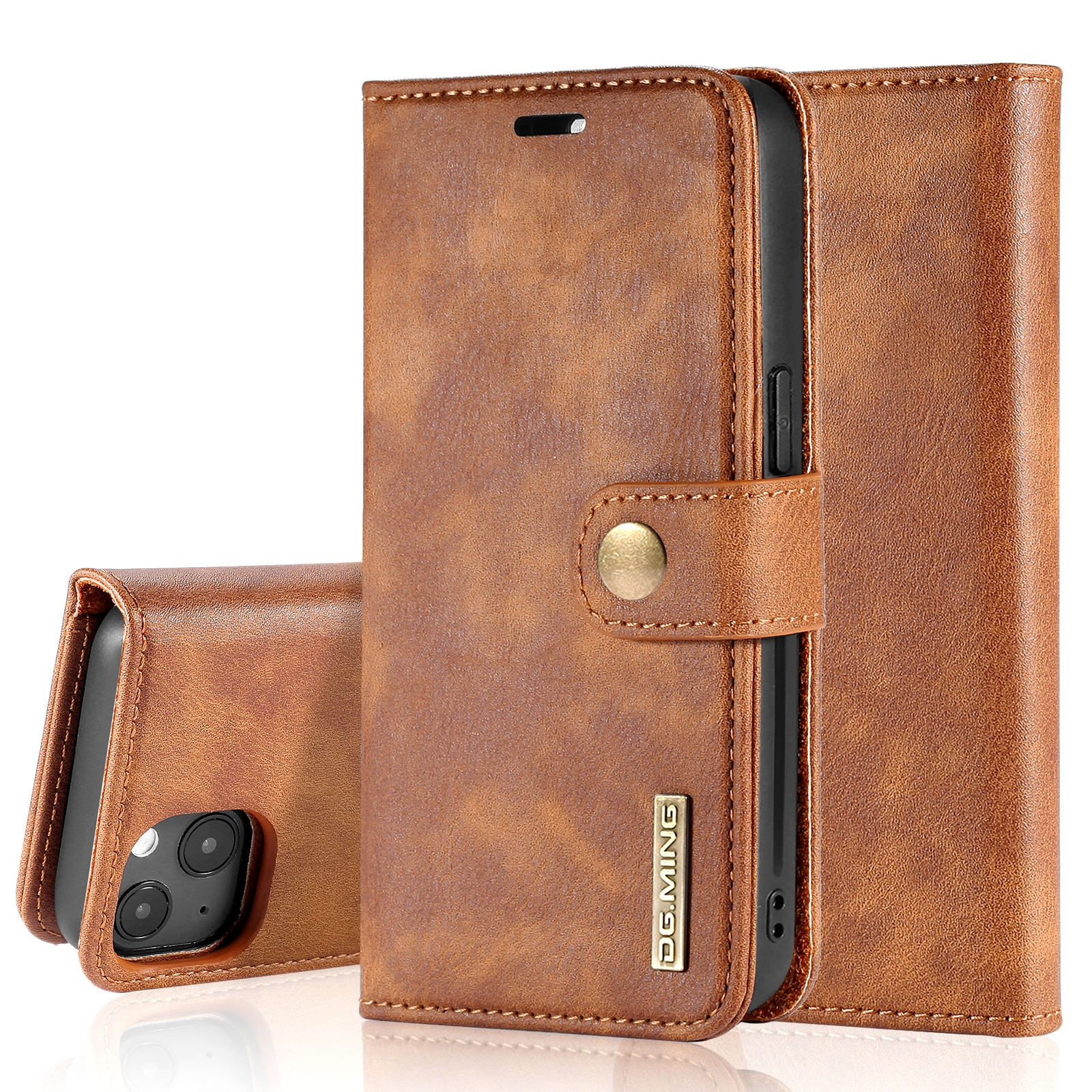 Magnet Wallet iPhone 13 Mini Cognac