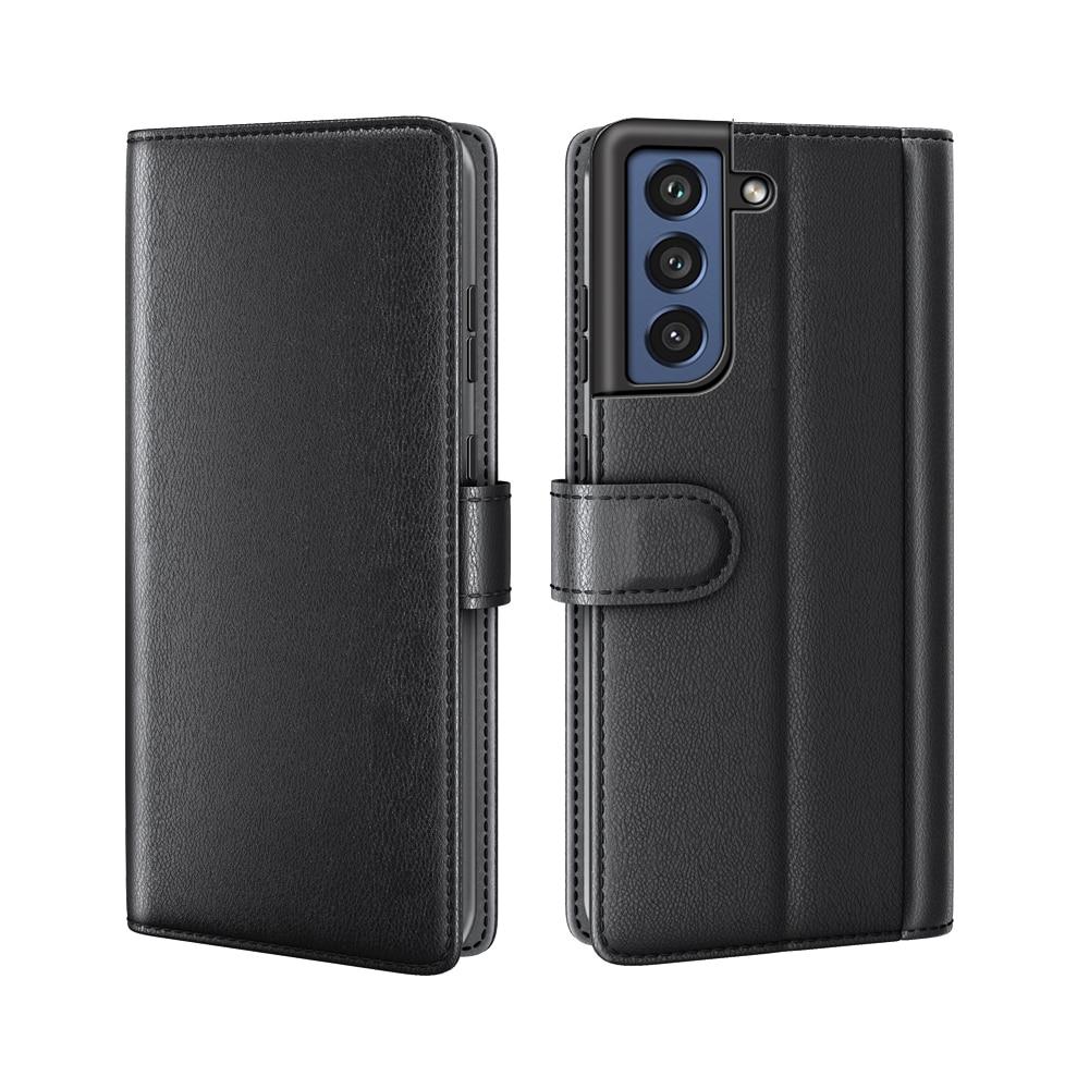 Ekte Lærveske Samsung Galaxy S21 FE svart