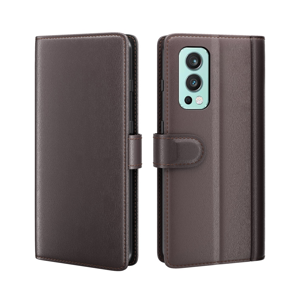 Ekte Lærveske OnePlus Nord 2 5G brun