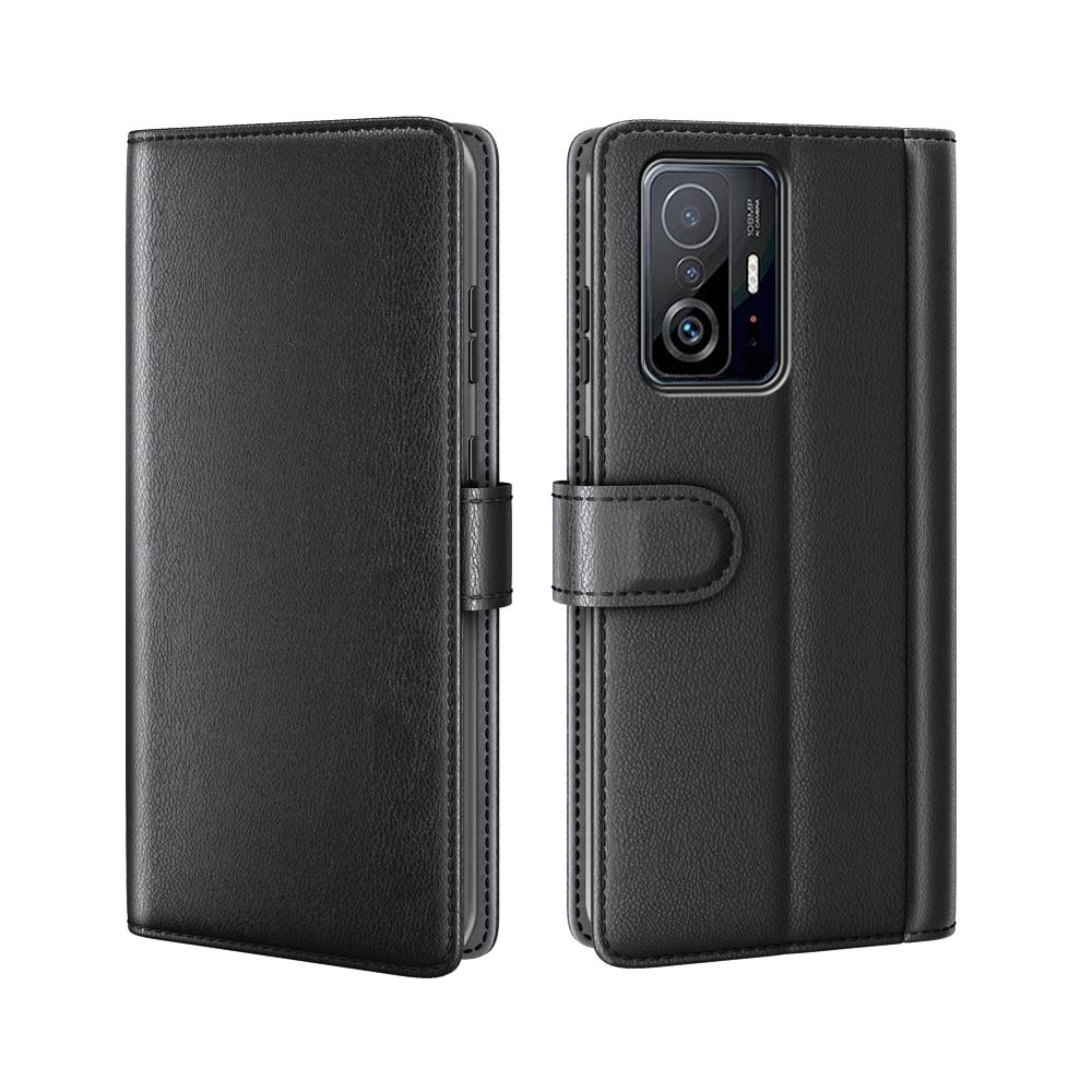 Ekte Lærveske Xiaomi 11T/11T Pro svart