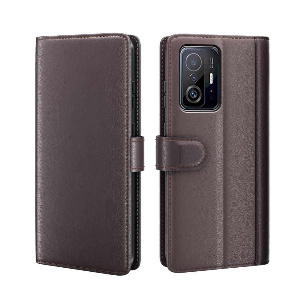 Ekte Lærveske Xiaomi 11T/11T Pro brun