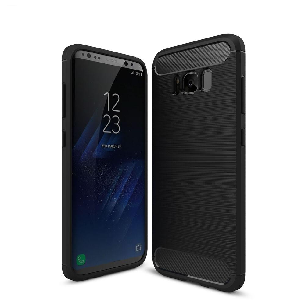 Brushed TPU Deksel Samsung Galaxy S8 black